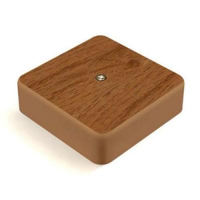 КМ41212-05 Коробка дуб 75*75*20мм с контакт.