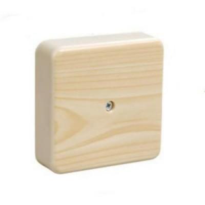 КМ41212-04 Коробка сосна 75*75*20мм с контакт.