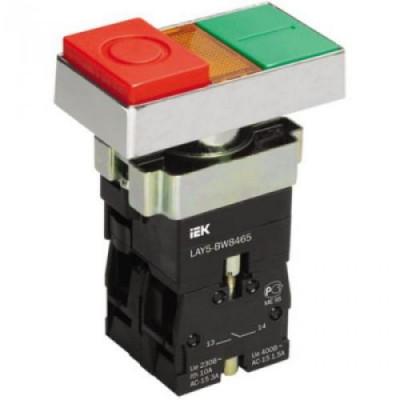 Кнопка LAY5-BW8465 I-0 сдвоенная с подсв. ИЭК