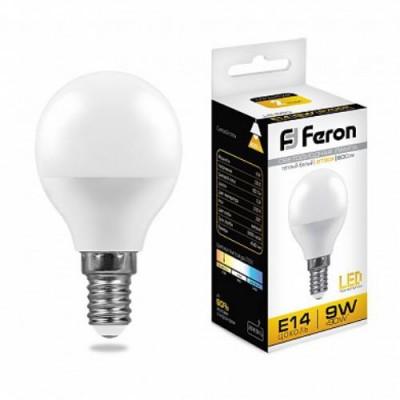 LB-550 Лампа светодиодная Шарик E14 9W 2700K Feron