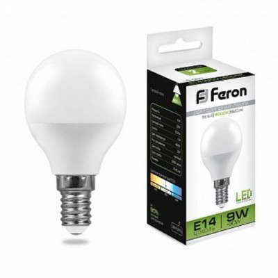 LB-550 Лампа светодиодная Шарик E14 9W 4000K Feron