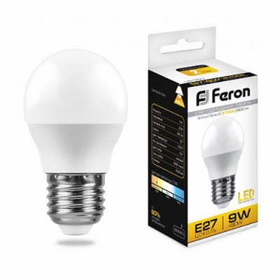 LB-550 Лампа светодиодная Шарик E27 9W 2700K Feron
