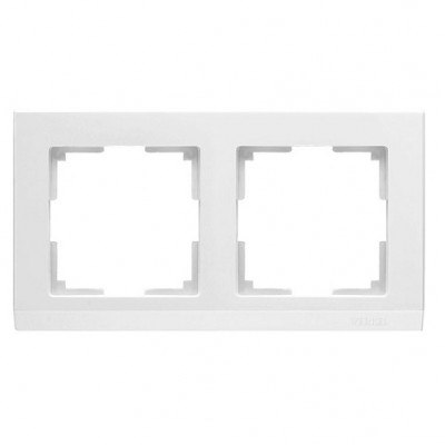 WL04-Frame-02/ Рамка на 2 поста Белая