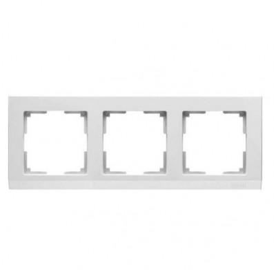 WL04-Frame-03/ Рамка на 3 поста Белая