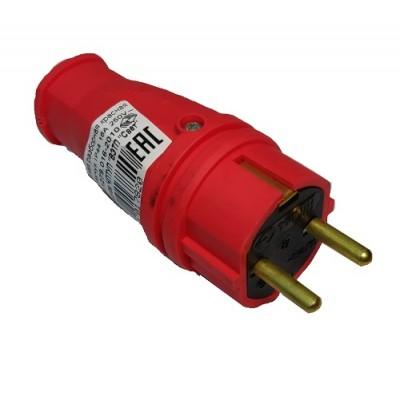 Вилка  с з/к  В16-001 каучук красный