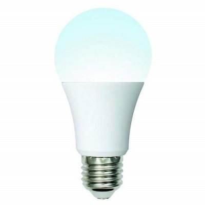 Лампа светодиодная. LED-A60-10W/NW/E27/FR/12-24V PLO55WH 12-24В. Форма «A», матовая. Белый свет (4000K)