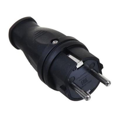Вилка прямая каучук 2Р+РЕ 16А 250В IP44 TDM