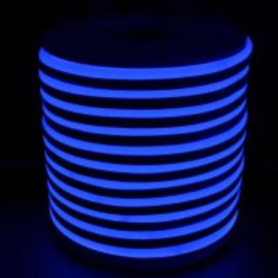 Светодиодная гибкая герметичная лента. NEON Синий свет ULS-N21-2835-120LED/m-8mm-IP67-220V-8W/m-50M-BLUE   Uniel