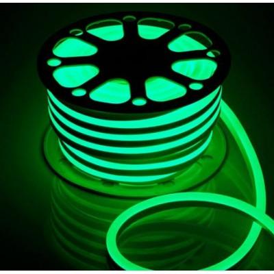 Светодиодная гибкая герметичная лента. ULS-N21-2835-120LED/m-8mm-IP67-220V-8W/m-50M-GREEN Зеленый свет. TM Uniel.