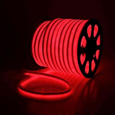 Светодиодная гибкая герметичная лента. ULS-N21-2835-120LED/m-8mm-IP67-220V-8W/m-50M-REDКрасный свет. TM Uniel.
