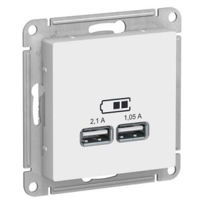 ATN000133 USB РОЗЕТКА, 5В/2,1 А, механизм, БЕЛЫЙ