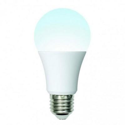 Лампа светодиодная. LED-A60-10W/NW/E27/FR/24-48V PLO55WH 24-48В. Форма «A», матовая. Белый свет (4000K)