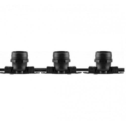 CL50-100 Гирлянда Белт-лайт, 200 E27, шаг 50cm черный, 100м+1,5