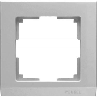 WL04-Frame-01 Рамка на 1 пост (серебряный)