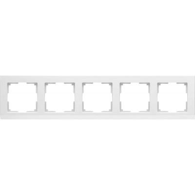 WL04-Frame-05-white  Рамка на 5 постов (белый)