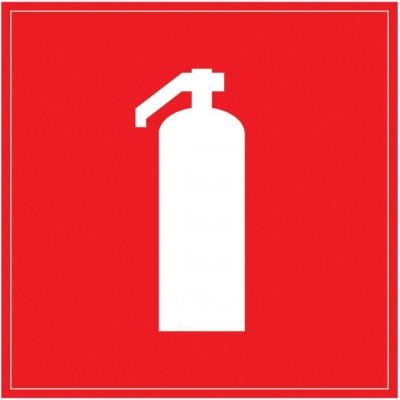 Самоклеящаяся этикетка: 150х150 мм, Огнетушитель
