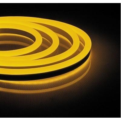 LS721 лента неоновая, 144SMD(2835)/м 12Вт/м 50м IP67 220V ЖЕЛТЫЙ широкая