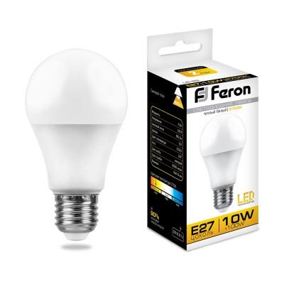 LB-92 Лампа светодиодная Шар E27 10W 2700K FERON
