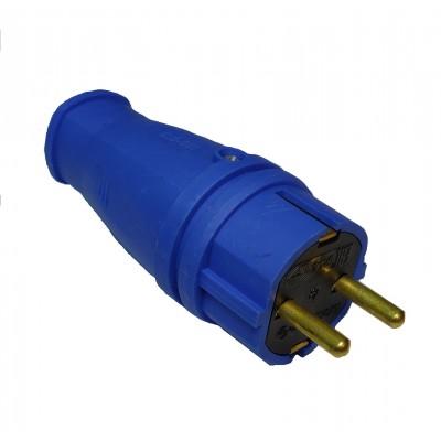 Вилка с з/к  В16-001 каучук синий
