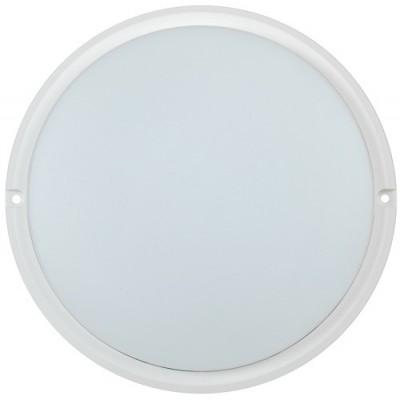 Светильник светодиодный ДПО 4004 18Вт IP54 4000K круг белый пластик IEK