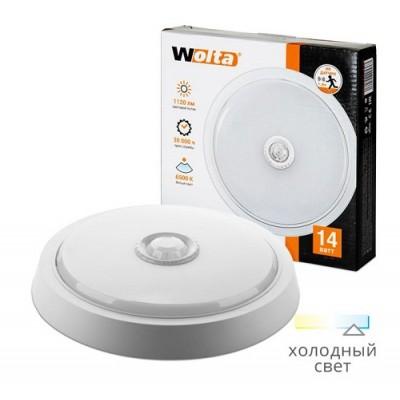 Светильник светодиодный DBO01-14-6.5K-PIR круг 14Вт 6500K