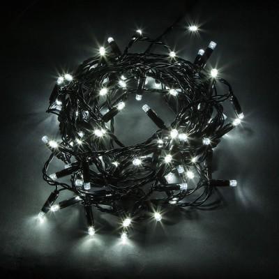 CL33 Гирлянда линейная,  100 LED 5000К, 10 м +1.5м черный шнур, БЕЗ МЕРЦАНИЯ,  IP65