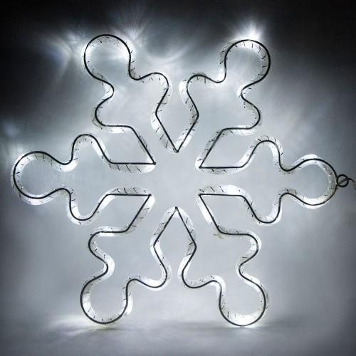 LT053 световая фигура из синтетической нити Снежинка, 15 LED