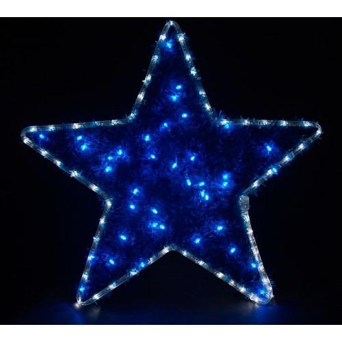 LT015 световая фигура звезда, 4м LED белый+синий, 24 LED/1м,