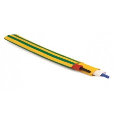 Термоусаживаемая трубка  6,4/3,2 мм желто-зеленый