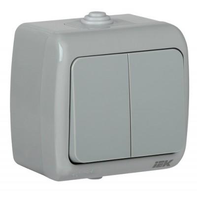 ВС-20-2-0-А Выключатель 2-кл для о/у 10А IP54 AQUATIC IEK