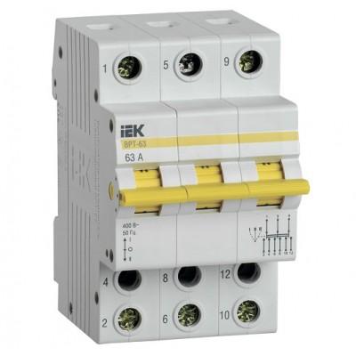 Выключатель-разъединитель трехпозиционный ВРТ-63 3P 63А IEK