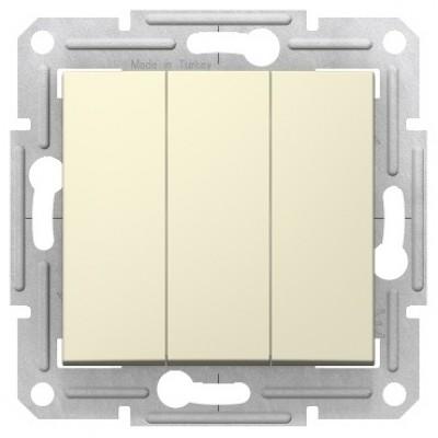 Выключатель 3кл.10AX, 230В, БЕЖЕВ SEDNA  SDN0300647