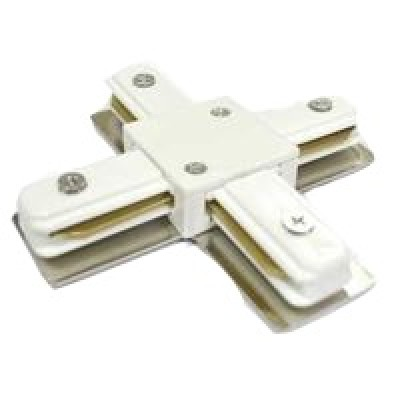 580931 Коннектор для шинопровода Х- образ 1-фаз G-1-TXT-IP20  бел