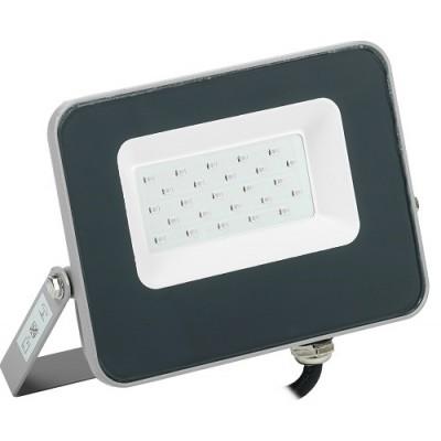 Прожектор светодиодный СДО 07-20G green IP65 серый IEK