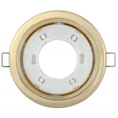 Светильник встраиваемый под лампу GX53 золото IEK