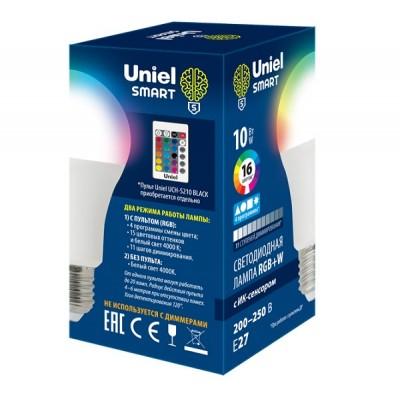 LED-A60-10W/RGB/E27/REG PLS21WH Лампа светодиодная с ИК сенсором. RGB