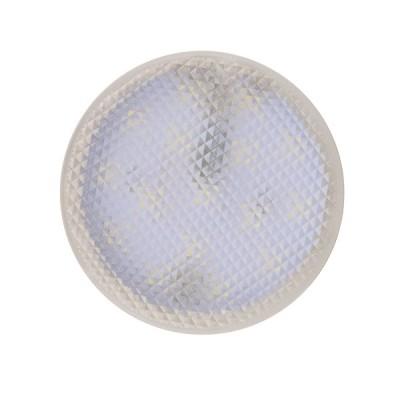LED-GX53-7W/3000K+3000K/GX53/PR PLB02WH Лампа светодиодная, призма.Теплый белый свет (3000K). Торцевая подсветка, Теплый белый свет (3000K).