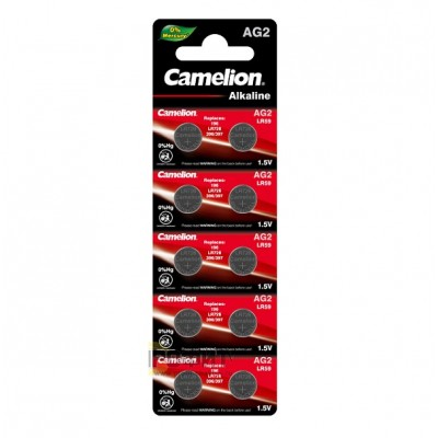 Camelion G 2  BL-10 Mercury Free (AG2-BP10(0%Hg), 396A/LR726/196 батарейка для часов)