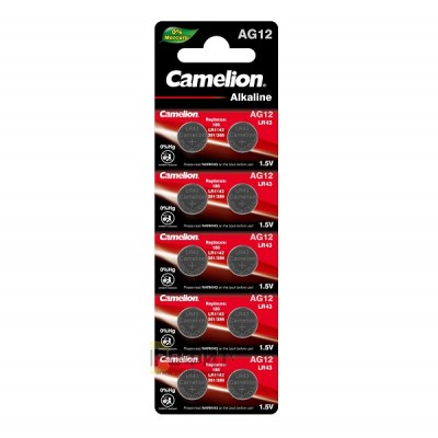 Camelion G12  BL-10 Mercury Free (AG12-BP10(0%Hg), 386A/LR43/186 батарейка для часов)