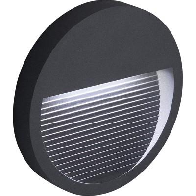 DH203 Светильник уличный светодиодный, 5W, 4000K, IP65, серый, круг