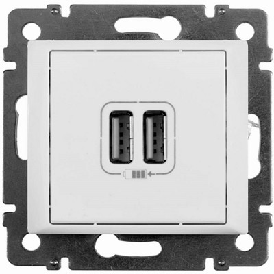 770470 Legrand Valena Бел Розетка 2-ая USB
