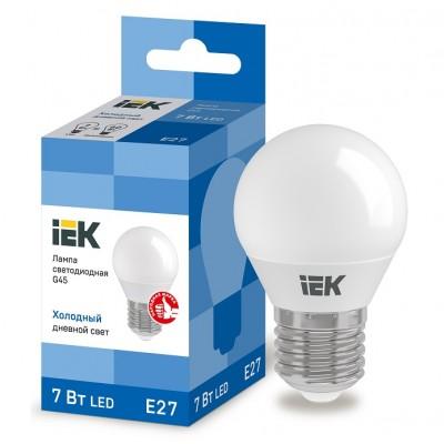 Лампа свет. ECO G45 шар 7Вт 230В 6500К E27 IEK