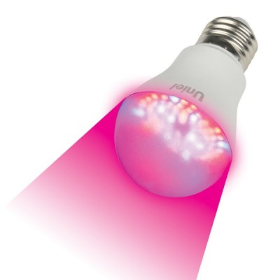 LED-A60-9W/SP/E27/CL ALM01WH Лампа светодиодная для растений. Форма A, прозрачная колба.