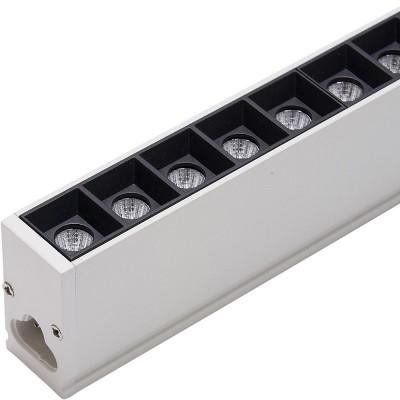 AL4028 Светодиодный светильник 3000K 30W белый  1197*23*42мм в алюминиевом корпусе