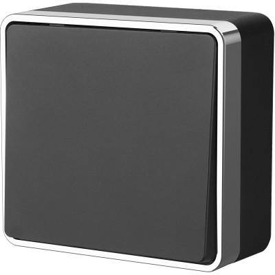 WL15-01-01/ Выключатель одноклавишный Gallant (черный/хром)