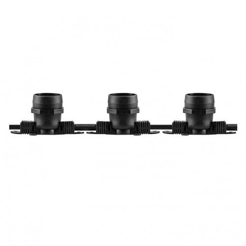 Гирлянда 230V  20 E27 черный, шаг 50cm, IP 65, 13м (3м сетевой шнур),  CL50-13
