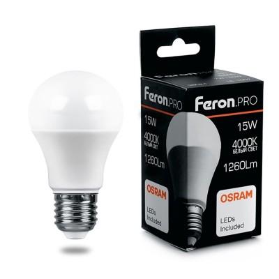 LB-1015 Лампа светодиодная, (15W) 230V E27 4000K A60