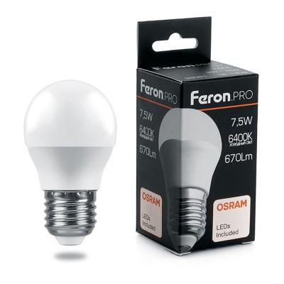 LB-1407 Лампа светодиодная,  (7.5W) 230V E27 6400K G45