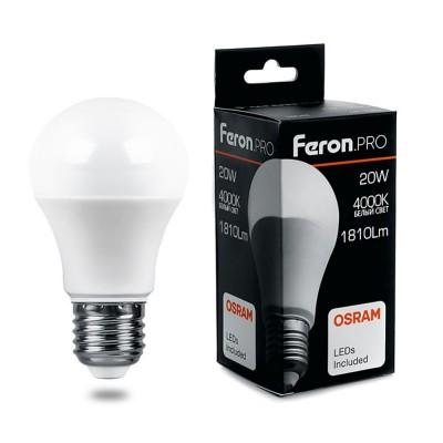 LB-1020 Лампа светодиодная, (20W) 230V E27 4000K A65