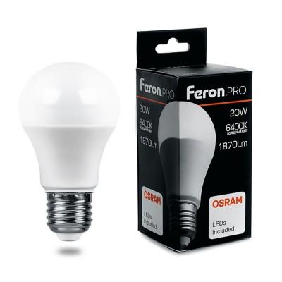 LB-1020 Лампа светодиодная, (20W) 230V E27 6400K A65